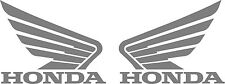 "#279 (2) 4.5""  HONDA wing motorcycle tank decal sticker SILVER Vinyl"
