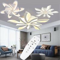Modern Acrylic LED Ceiling Light Bedroom Lamp Living Room Chandelier Lighting+RC