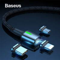 3A Magnetic USB Cable Lightning Micro Type C Fast Charging For iPhone Samsung LG