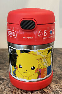 Thermos Pokemon 10oz FUNtainer Food Jar with Spoon Charizard Picachu Hot Cold