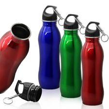 Edelstahl Trinkflasche Wasserflasche Sport Fahrradflasche 750 ml + Karabiner