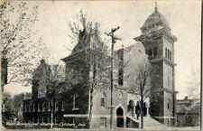 1909. FIRST EVANGELICAL CHURCH. ELKHART, IND. POSTCARD v3