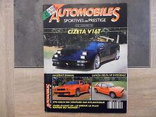 Magazine AUTOMOBILES SPORTIVES ET DE PRESTIGES – n°26 – 11/1991 – spécial Italie