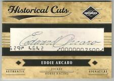 EDDIE ARCARO 2011 Panini Limited Baseball HISTORICAL CUTS SIGNATURE CARD SIGNED