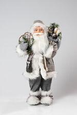 Weihnachtsmann stehend ca.45cm / Santa Claus Nikolaus silber Neu Top 20/2