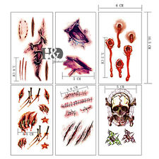 Halloween Sticker Needle Knife Vampire Drop of Blood Tattoo Stickers