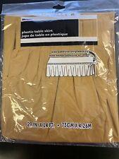 Gold Plastic Tableskirt