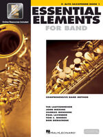 Essential Elements for Band: Eb Alto Saxophone Book 1 with EEi 862572