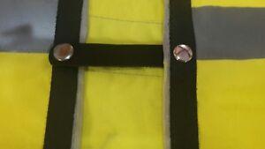 x4 black leather vest extenders with gunmetal press studs #73