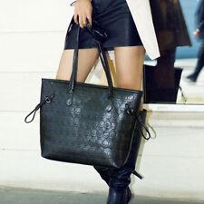 Women's Skull Embossed Shopping Tote PU Leather Hobo Handbag Zipper Shoulder Bag