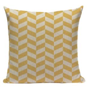 Yellow Pattern YG7 Cushion Pillow Cover European Design Stylish Modern Geometric