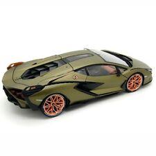 LAMBORGHINI SIAN FKP 37 GREEN METALLIC 1:18 DIECAST MODEL CAR BY BBURAGO 11046