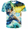 Women Men Anime Goku Dragon Ball Casual 3D T-Shirt Print Short Sleeve Tops Tee
