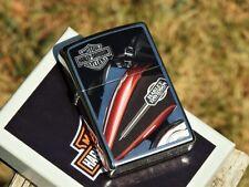 Zippo Lighter - Harley Davidson Motorcycles - HD Tank Logo - Bar and Shield