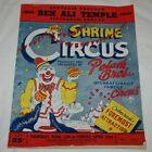 Vtg 1950 Shrine Circus Polack Bros. Circus Program Mem. Auditorium Sacramento!!!