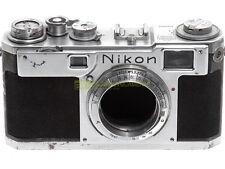 Nikon S2 a telemetro degli anni '50, matr. 6160032. Molto rara, da collezione.