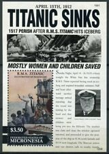 Micronesia 2012 MNH Titanic 100th Anniversary 1v S/S Ships Boats Stamps