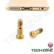 2 x Bottom Screws Pentalobe Gold OEM set for Apple iPhone 6S & iPhone 6S Plus