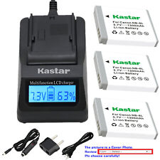 Kastar Battery LCD Fast Charger for Canon NB-6LHH CB2LY Canon PowerShot SX540 HS