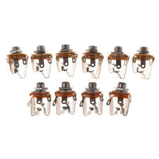10PCS 6.35mm 2-channel Stereo Socket Jack Female Connector Panel Mount Solde