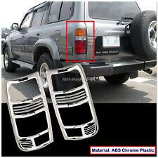 [8063 AU] for Toyota Land Cruiser FJ80 80Series Chrome Tail Light Trim Rear Lamp