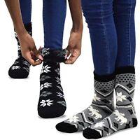 TeeHee Super Warm Brushed Thermal Crew Socks 2 Pairs Winter Cozy