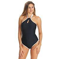 Freya Back to Black Underwire One-Piece Swim Suit, Size US 32E