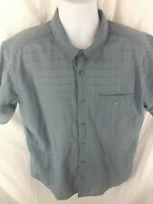 Patagonia Mens Shirt Blue Short Sleeves Button Up Organic Cotton Blend Sz Large