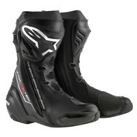 NEW Motorcycle Alpinestars Supertech R Black Performance Riding Road Boots - AS2