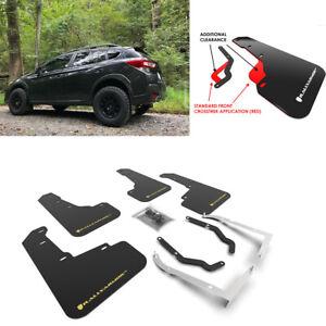 Rally Armor Black w/ Yellow Logo Mud Flaps for Subaru XV Crosstrek & Lifted 18+