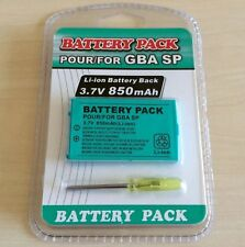 New Rechargeable Battery for Nintendo Game Boy Advance SP + Screwdriver 850mAh