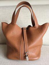 """Hermes Picotin Lock GM 26cm Large 10""""x10""""x8.5"""" Gold (tan/brown) Tote Bag"""