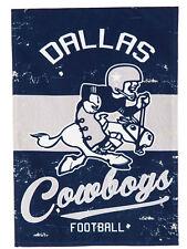Dallas Cowboys EG VINTAGE Retro 2-sided GARDEN Flag Linen Banner Football