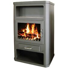 Wood Burning Stove Multi Fuel 29 kW Log Burner Back Boiler for Central Heating