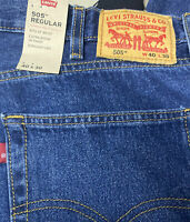 Levi's 505 Regular Fit Straight Leg Blue Jeans Men's Size 40X30 505-1528 NWT