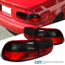 For 92-95 Honda Civic 2/4Dr Parking Tail Lights Brake Stop Rear Lamps Red Smoke
