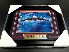MICHAEL PHELPS OLYMPIC 23 GOLD MEDALS RECORD FRAMED 8X10 PHOTO USA