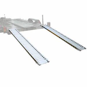 Pair Aluminium Loading Ramps for Car Transporter & Flatbed Trailer 2.5m 2000kg