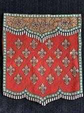 Fleur De Lis Banner Screen ~ English Victorian Beaded Needlepoint ~ Embroidery