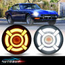"Pair 7"" LED Round Headlights Hi/Lo Beam DRL For Datsun 240Z 260Z 280Z 280ZX"