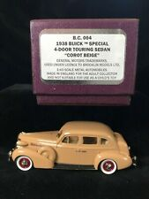 Boxed BROOKLIN BC4 BUICK 1938 SPECIAL TOURING SEDAN Beige Car Diecast Model 1/43