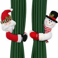 Christmas Santa Claus Curtain Buckle Tie Holder Clip Curtain Tieback Home Decor