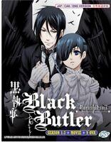 DVD Anime ENGLISH DUBBED BLACK BUTLER - KUROSHITSUJI SEA 1-3 + 9 OVA + MOVIE LS