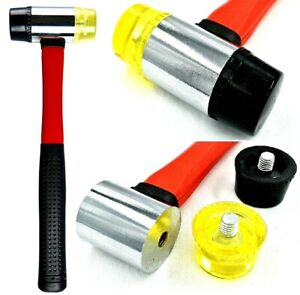 40mm Double Faced Rubber Hammer Nylon Head Tile Window Glazing Mallet Tools