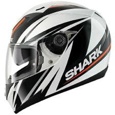 Shark S700 Line up Orange Black white Full face Motorcycle crash helmet XS SALE