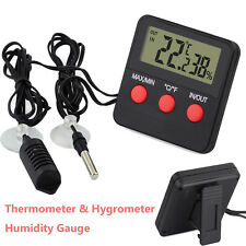 Indoor/Outdoor Digital Thermometer Hygrometer Humidity Gauge With Remote Probe