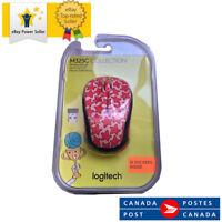 Logitech Doodle Collection (M325C) Mouse - 2.4 GHz - Cosmos Coral - 910-005029