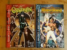 Just Imagine Stan Lee lot of 2: Catwoman (Bachalo) & Wonder Woman (Jim Lee)