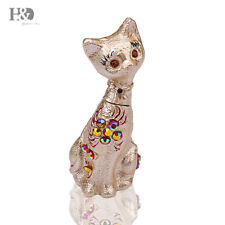 Vintage Style Hand-Painted Cat Trinket Boxes Figurines Jewelry Collectible Gift