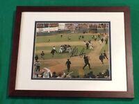 Nolan Ryan Signed 1969 Mets World Series Win Framed 8x10 Photo -Steiner MLB Holo